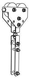 Легкие кабельные тележки для движения по тросу